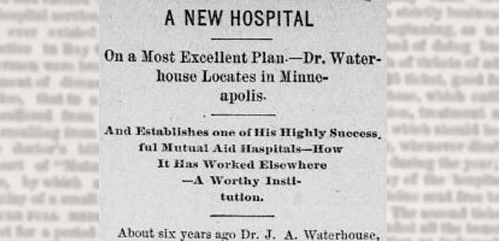 newspaper clipping announcing workers hospital