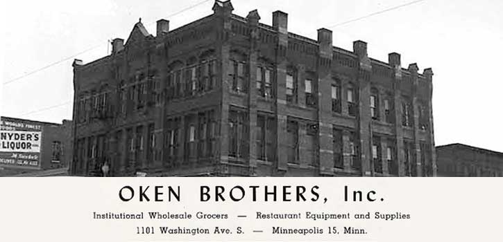 day block building with oken bros signage